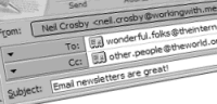 A decorative image showing the start of an email newsletter